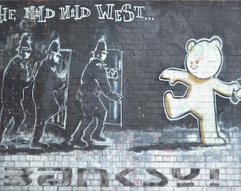 "Banksy Print ""Mild Mild West"""