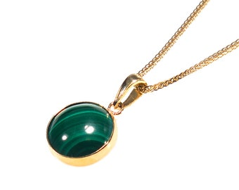 malachite pendant, malachite necklace, 14k gold necklace, malachite jewelry, 14 gold jewelry, small pendant, green pendant, gold pendant
