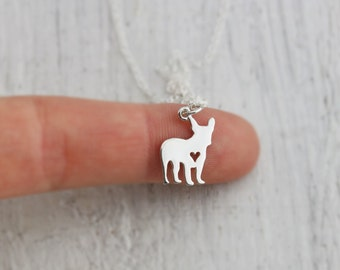 French Bulldog Necklace - Sterling Silver French Bulldog Necklace  -French Bulldog Jewelry -Frenchie Charm - Frenchie Jewelry - Dog Necklace
