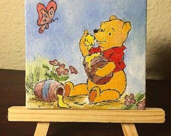 Winnie the Pooh Inspired Mini Painting