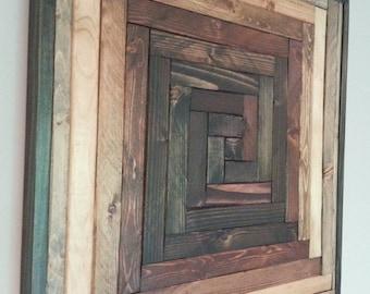 Pinwheel Pattern Wood Wall Art