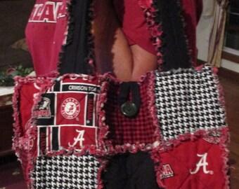 Handmade Alabama Rag Quilt Bag