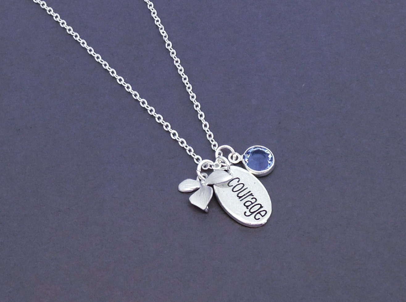 courage necklace graduation necklace courage jewelry