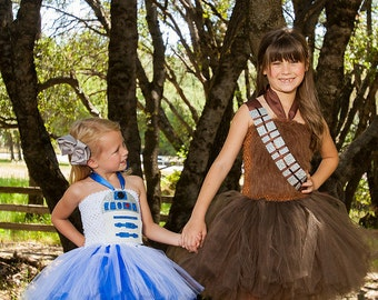 Chewbacca tutu dress - chewbacca costume - Star wars birthday party - Star Wars costume - tutu dress -  Darth Vader - BB8 - R2D2 - star wars