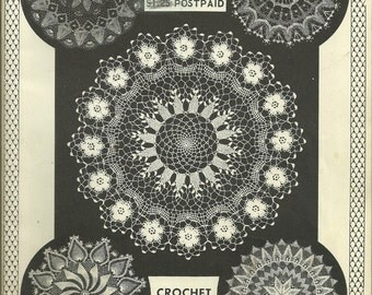 Elizabeth Hiddleson Crochet Originals Vol. 11 Vintage, Thread Crochet, Doilies, Home Decor, 1964