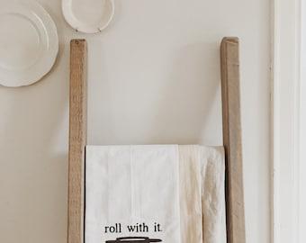 Hand painted cotton Tea Towel
