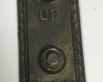 Vintage elevator button panel