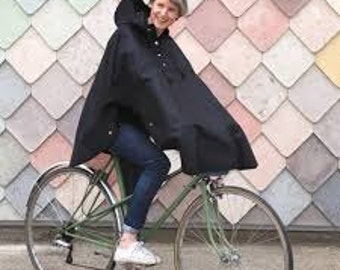 Wax cotton - oil cloth waterproof cycling cape