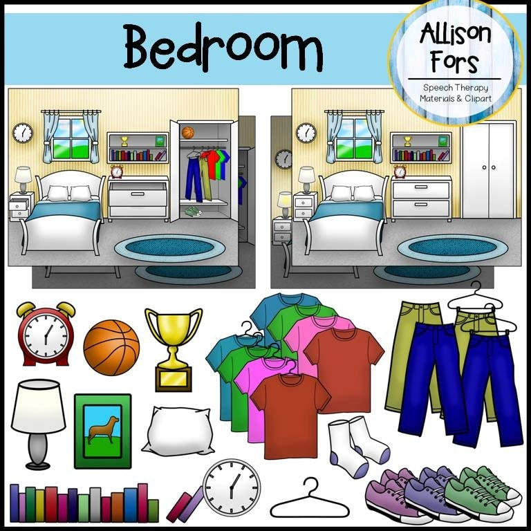 Bedroom Clip Art From AllisonFors On Etsy Studio