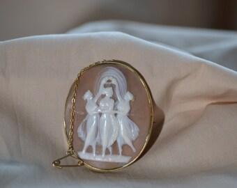Vintage cameo, Antique cameo, Vintage cameo brooch