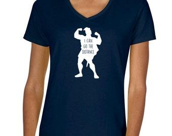 "Disney's Hercules ""I can go the distance"" Vneck Tshirt"