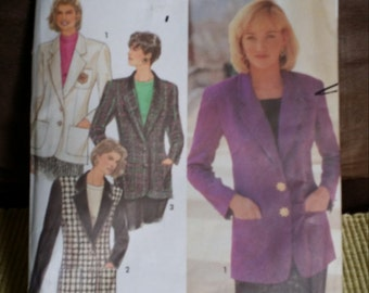 Simplicity Pattern 7963 size HH 6-12 1992 double breasted blazer, Vintage sewing pattern, Vintage Simplicity Pattern, Sewing pattern blazer
