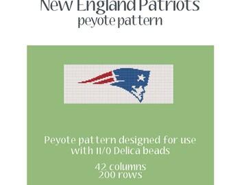 New England Patriots Peyote Pattern