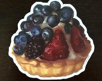 Dessert Vinyl Sticker - Fruit Tart Pastry