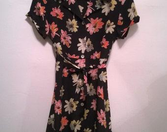 vintage 90's floral button down dress