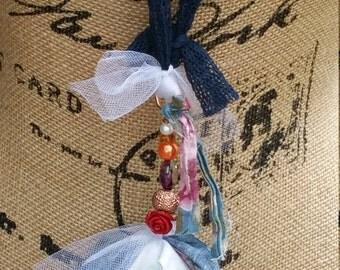 Boho Rose Tassel Necklace