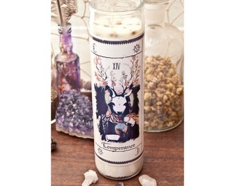 SALE! Tarot Candle - Temperance Arcana Candle - Herbs, Essential Oils