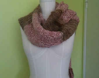 Moss Stitch Zigzags- Scarf