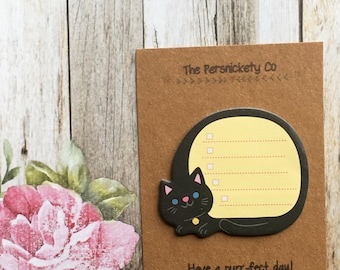 Sleeping Cat Sticky Note / Memo Note / Desk Note - Have a purr-fect day!