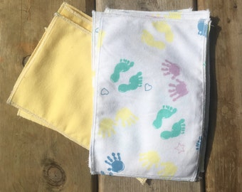 Reusable baby wipes, neutral baby shower gift, baby wipes, cloth wipes, family cloth, reusable, cloth