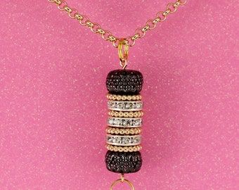 Lovely Interchangeable Gold ID Holder Lanyard Necklace
