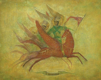 Mikhail Archangel - By V. Moskalenko Russian Original Oil Painting Canvas, 41x32 in.
