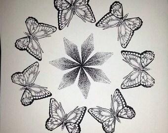 Butterfly Star Mandala