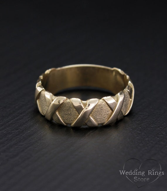 cross wedding band promise ring or wide wedding