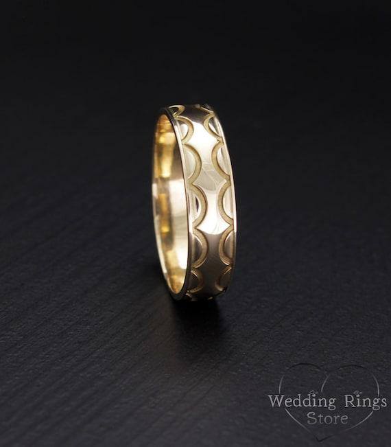 Mens Womens Wedding Ring Custom Ring Gold Wedding Band