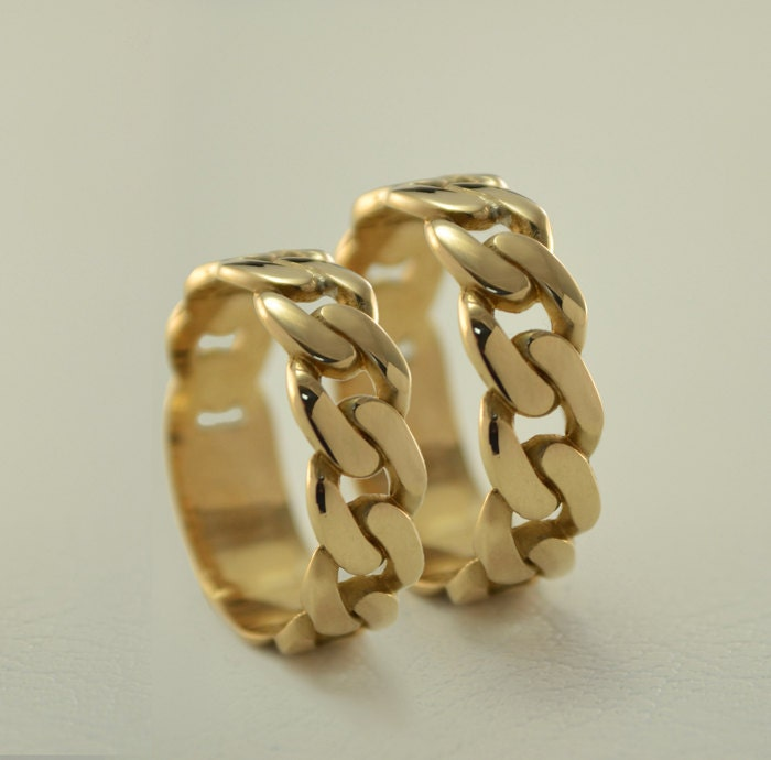 Wedding Ring On Chain Boy Or Girl: Chain Wedding Bands Yellow Gold Wedding Rings Chain Matching