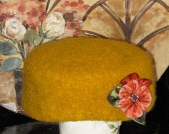 Golden Pill Box Hat