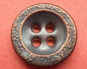 11 metal buttons bronze 14 mm (6206) buttons metal knob