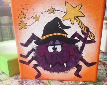 Halloween spider painting