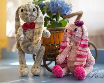 Cutest Floppy Crochet Bunny  - Crochet Bunny Plush Toy - Stuffed Rabbit - Stuffed Animals - Home Decor