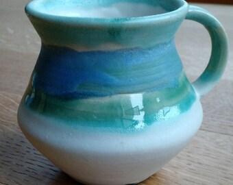 Celadon,  sky blue and white mug