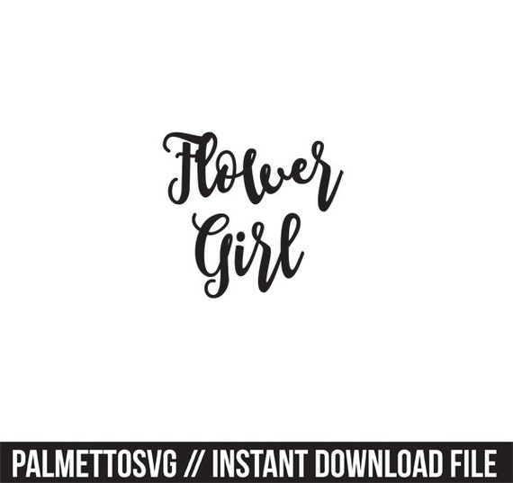 flower girl svg dxf silhouette cameo cricut by palmettocuts