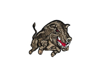 Vintage Hog Wolf Dragon Horses Pig Cat Hippie Embroidered Cloth Sew Iron On Patches Patch Applique Biker Elephant For Jackets Jeans Alphabet