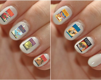 Harry Potter First Edition Book Cover Waterslide Nail Decal