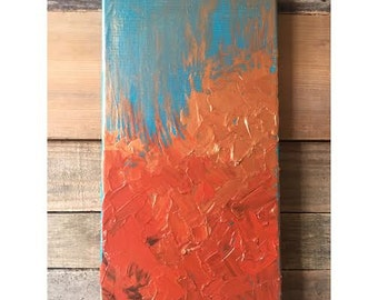 Teal and Copper Abrstact
