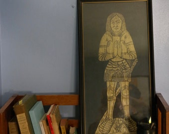 Tombstone Rubbing Knight, Gold
