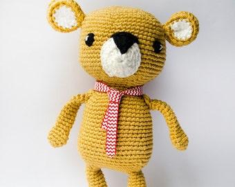 Amigurumi golden bear pattern