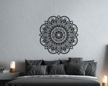 Mandala Vinyl Wall Decal- Mandala Decal- Yoga Wall Decal Meditation Bohemian Boho Bedroom Mandala Wall Art- Bedroom Window Car Wall Decor #1