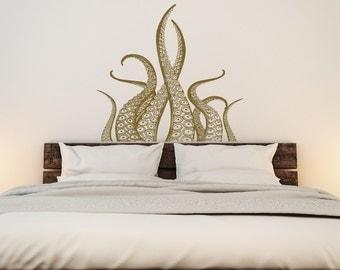 Octopus Tentacles Wall Decal Kraken Art- Octopus Decal Nautical Decor- Tentacles Decal Ocean Decor- Kraken Decal Marine Life Wall Art #54