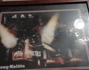 Doug Kalitta autographed framed print