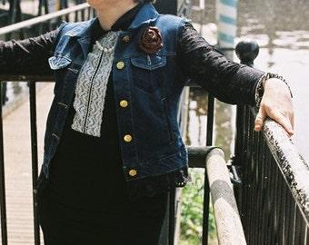 Restyled sleevles denim jacket