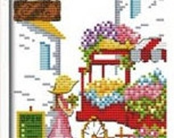 Romantic Street Cross Stitch Kit