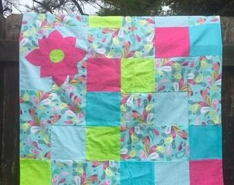 Paisley Flower Baby Blanket