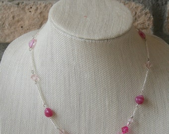 Magenta and Pink Necklace