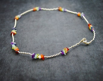 Sterling Silver Chakra Necklace ~ FREE SHIPPING