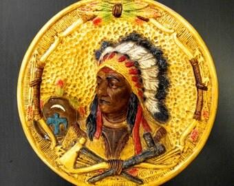 1940s Vintage Native American Plate